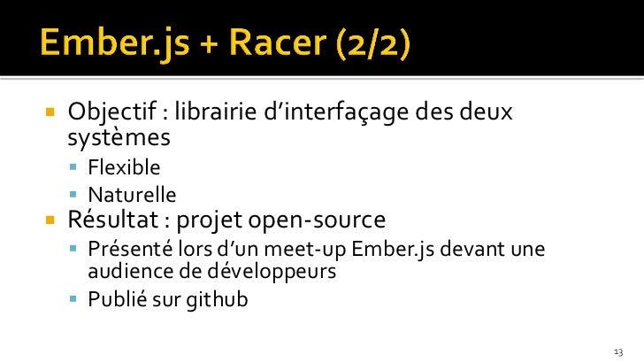    Objectif : librairie d'interfaçage des deux    systèmes     Flexible     Naturelle   Résultat : projet open-source ...