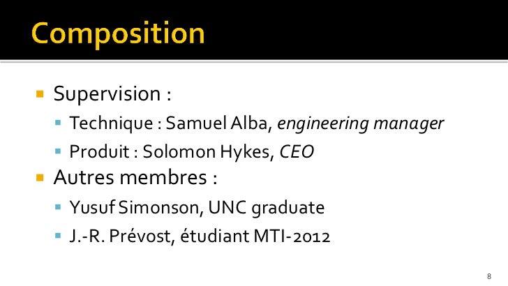    Supervision :     Technique : Samuel Alba, engineering manager     Produit : Solomon Hykes, CEO   Autres membres : ...