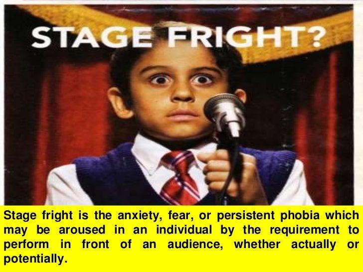 Stage fright Slide 3
