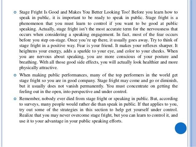 Stage fright strategies Slide 2