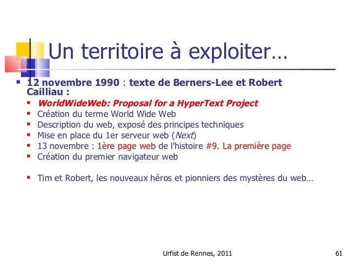 Histoire de la datation Internet