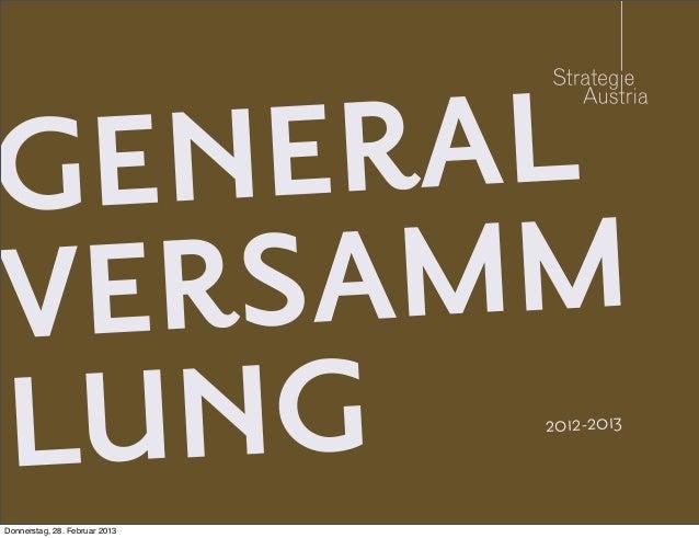 GE NER ALVERSA MMLU NGDonnerstag, 28. Februar 2013                               2012-2013