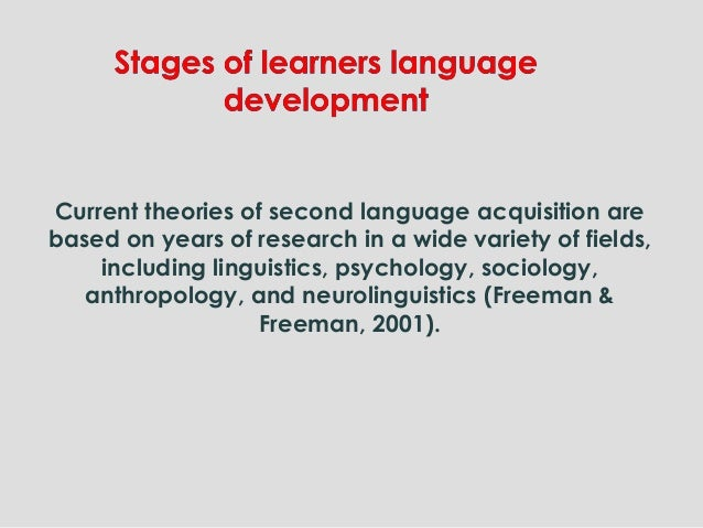 Current theories of second language acquisition are based on years of research in a wide variety of fields, including ling...