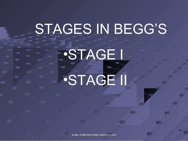 STAGES IN BEGG'S •STAGE I •STAGE II www.indiandentalacademy.comwww.indiandentalacademy.com