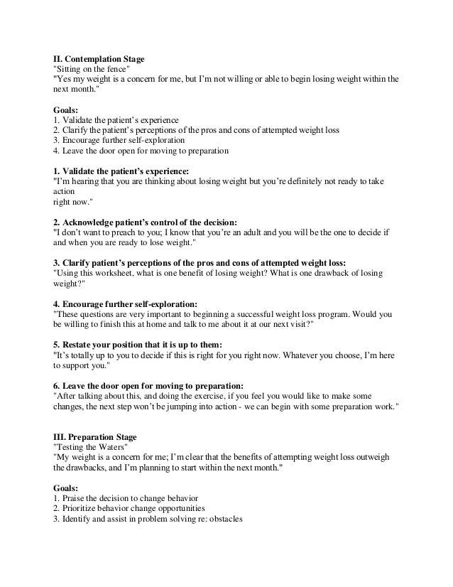 Stages of change – Stages of Change Worksheet
