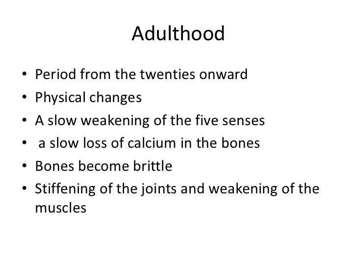 stages of development infancy to adulthood