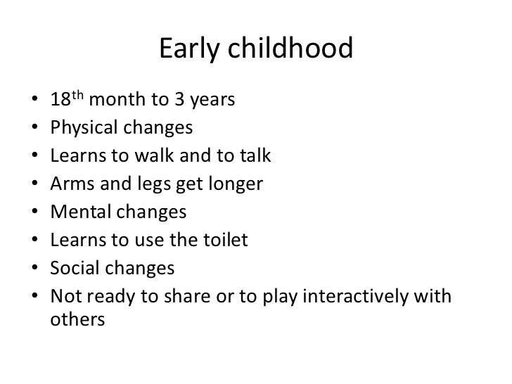 stages and characteristics of growth and development