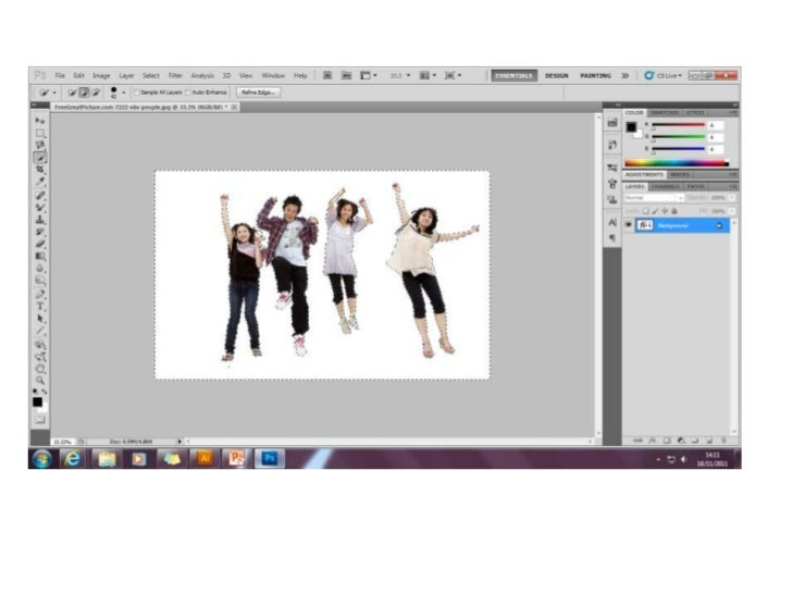 Stages of making of the pic