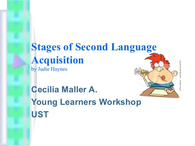 Stages of Second Language Acquisition by Judie Haynes Cecilia Maller A. Young Learners Workshop UST