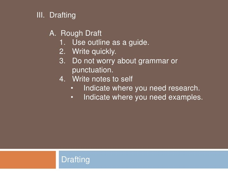 Stages of writing an essay