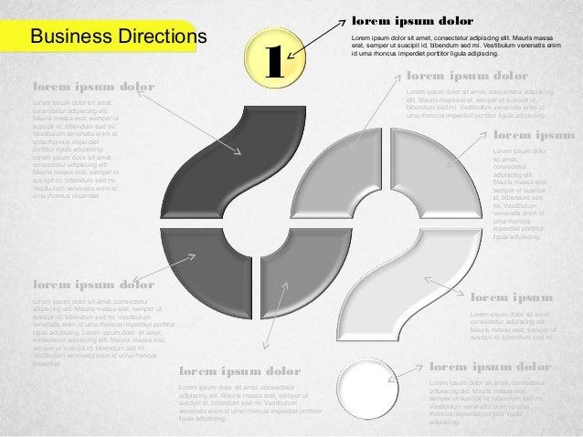 Business Directions 1 Lorem ipsum dolor sit amet, consectetur adipiscing elit. Mauris massa erat, semper ut suscipit id, b...