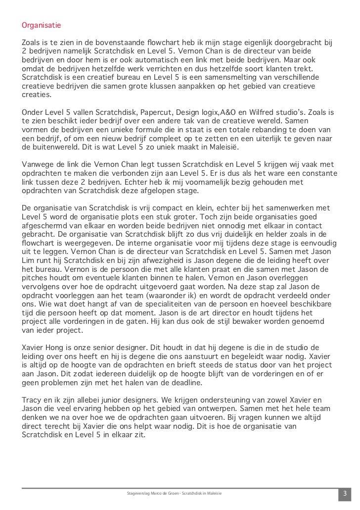 Stageverslag Marco de Groen