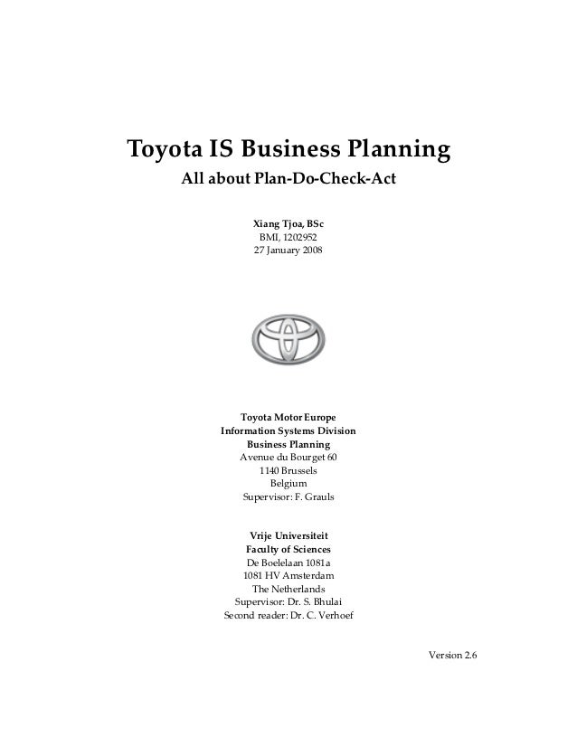Toyota IS Business Planning         All about Plan‐Do‐Check‐Act                                                      ...