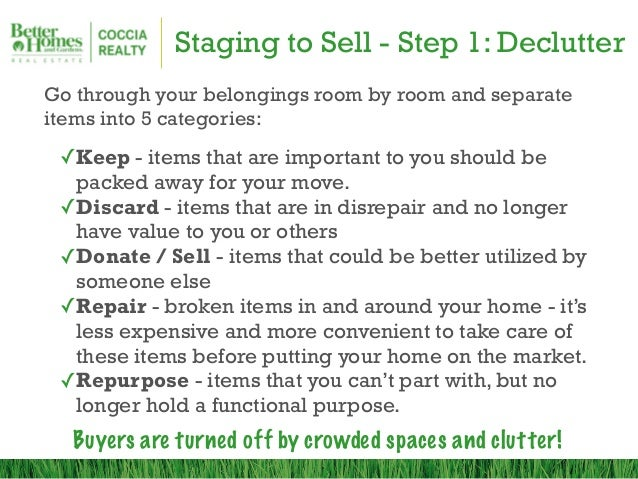 Staging your home to sell bhgre coccia realty for Stage your house to sell