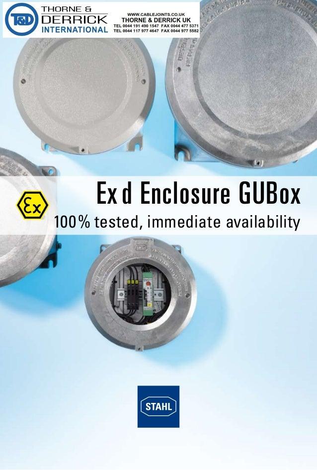 Stahl GUBox Ex d Explosion Proof Light-Metal Enclosures