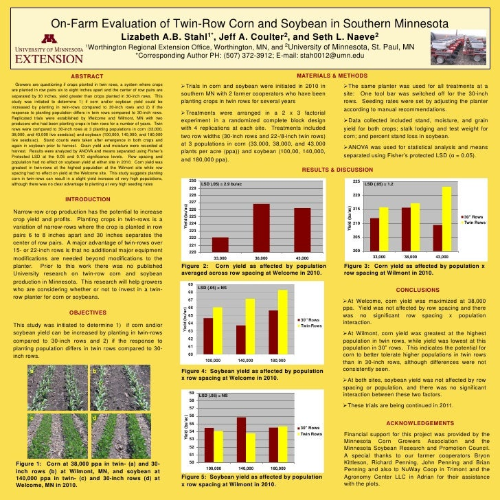 On-Farm Evaluation of Twin-Row Corn and Soybean in Southern Minnesota                                                     ...