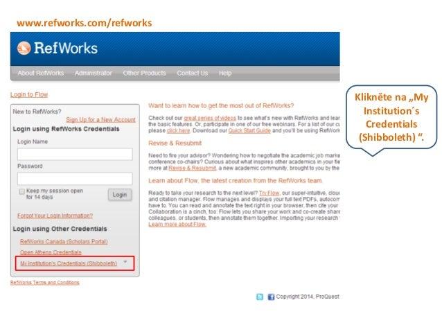 Stahování z utb katalogu v prostředí ref works Slide 2