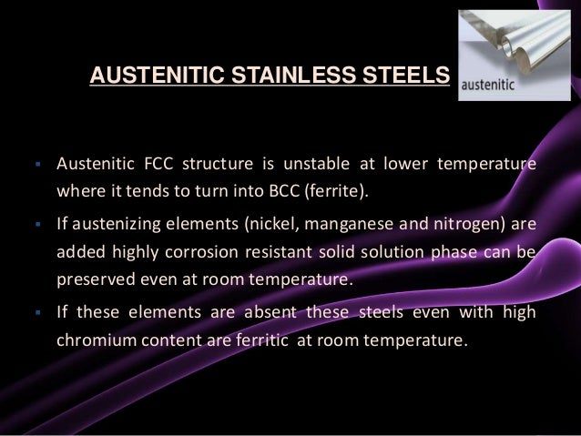 Composition Of Stainless Steel At Room Temperature
