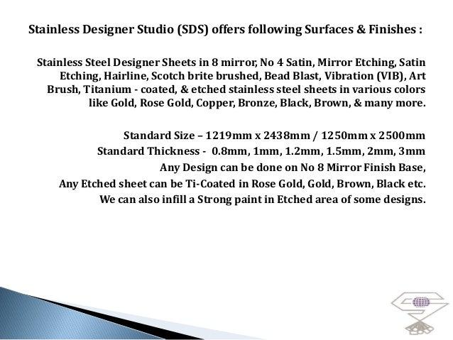 Stainless designer studio