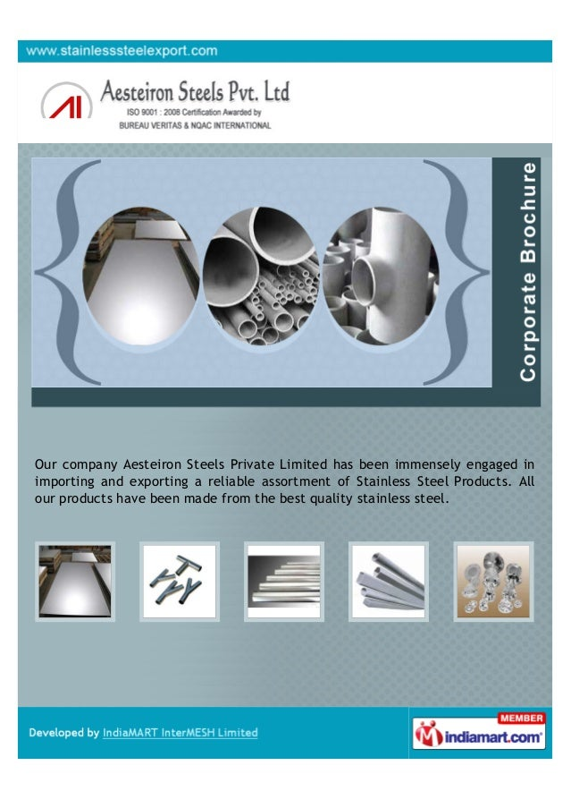 Our company Aesteiron Steels Private Limited has been immensely engaged inimporting and exporting a reliable assortment of...