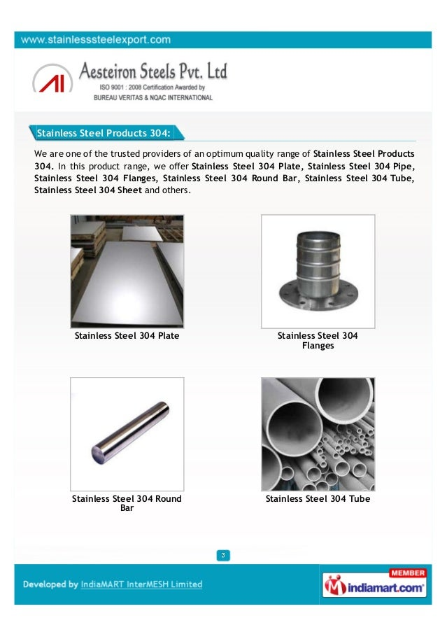 Aesteiron Steels Private Limited, Mumbai , Stainless Steel Products Slide 3