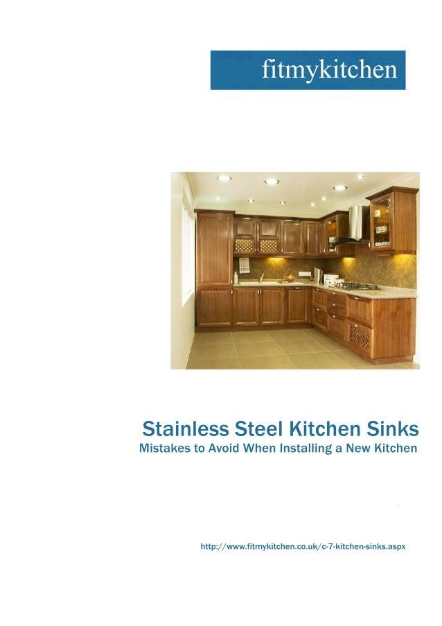 StainlessSteelKitchenSinks MistakestoAvoidWhenInstallingaNewKitchen http://www.fitmykitchen.co.uk/c-7-kitchen-sinks.aspx f...