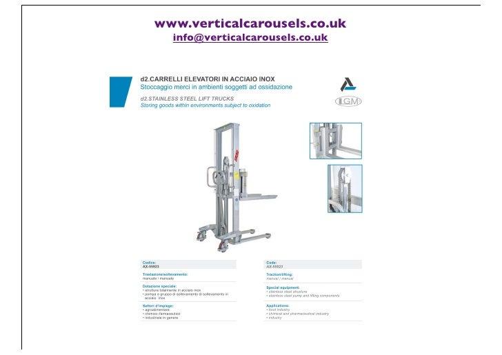 www.verticalcarousels.co.uk  info@verticalcarousels.co.uk