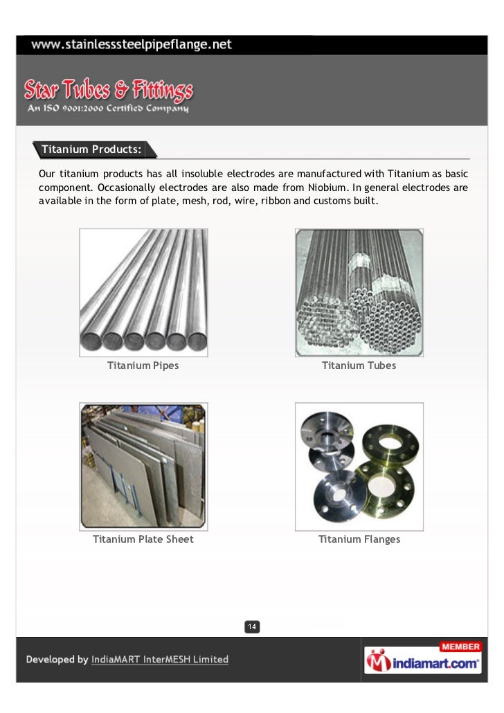 Titanium Products:Our titanium products has all insoluble electrodes are manufactured with Titanium as basiccomponent. Occ...