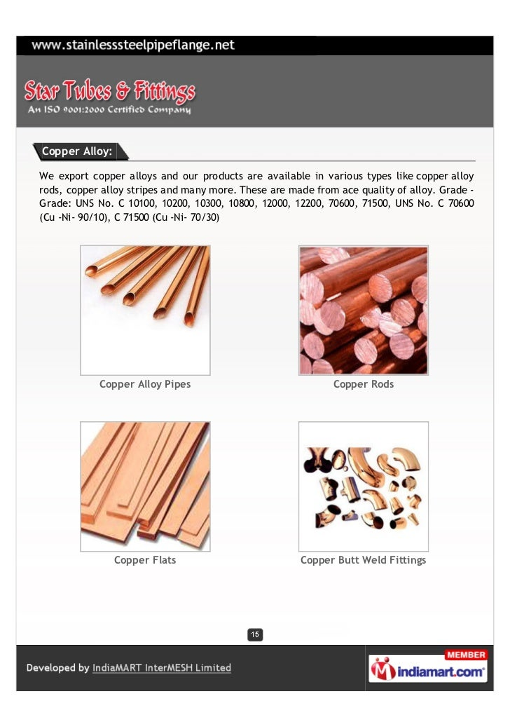 Copper Alloy:We export copper alloys and our products are available in various types like copper alloyrods, copper alloy s...
