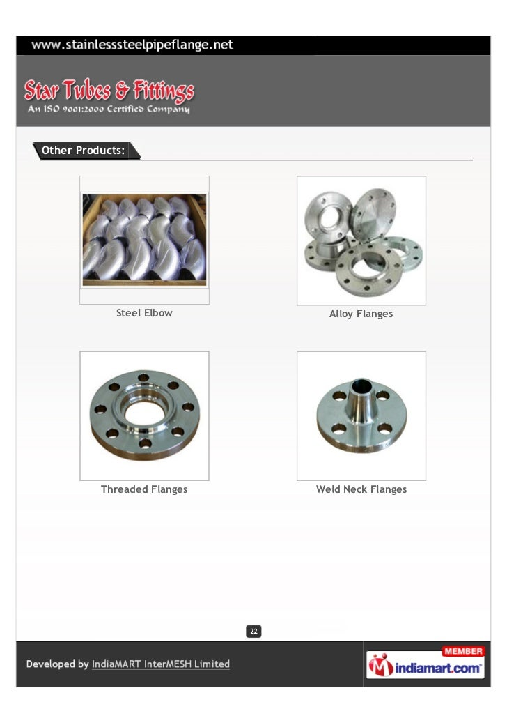 Other Products:             Steel Elbow            Alloy Flanges          Threaded Flanges        Weld Neck Flanges       ...