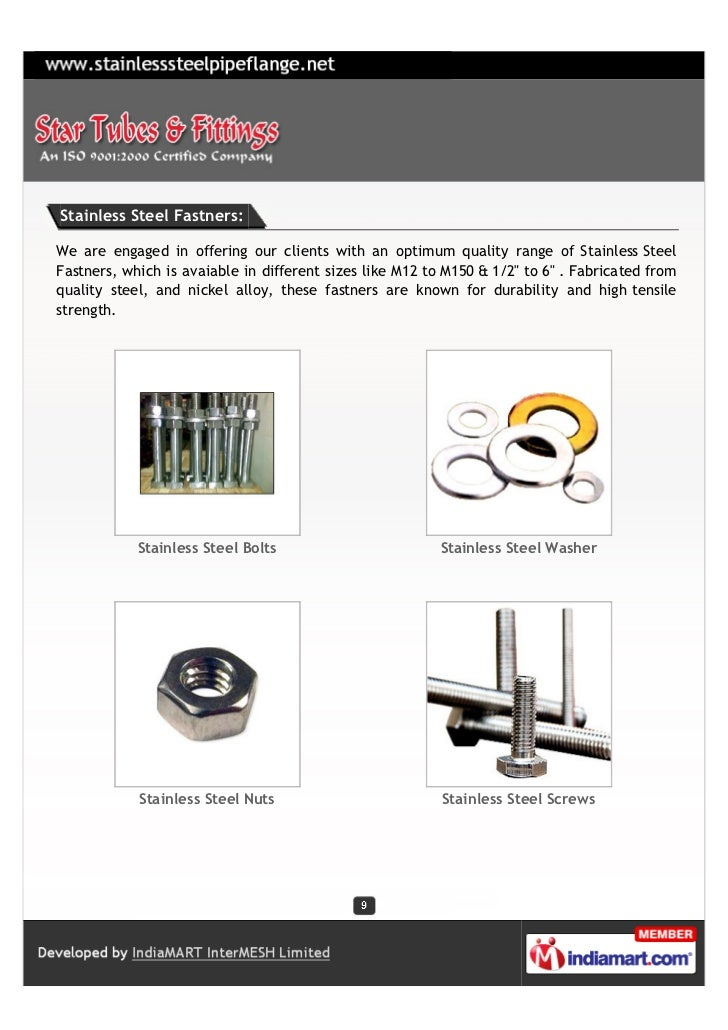Stainless Steel Fastners:We are engaged in offering our clients with an optimum quality range of Stainless SteelFastners, ...