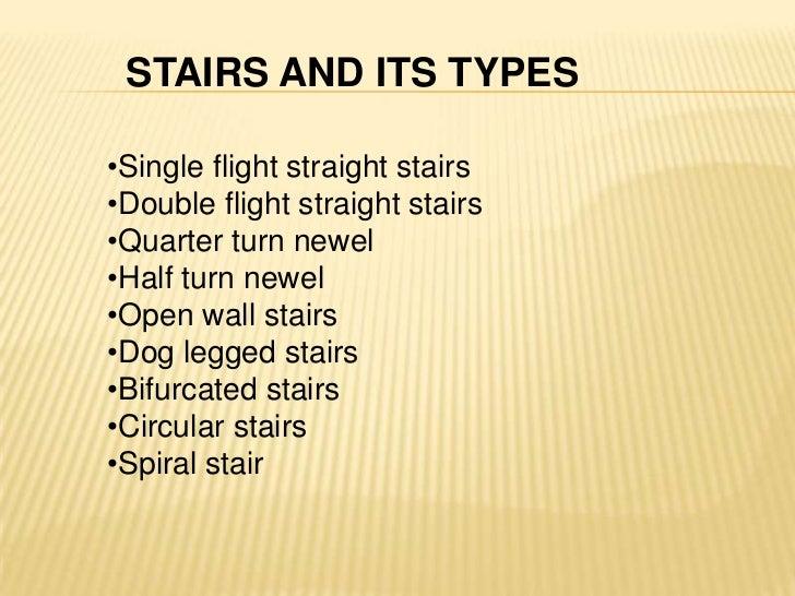 STAIRS AND ITS TYPESu003cbr ...