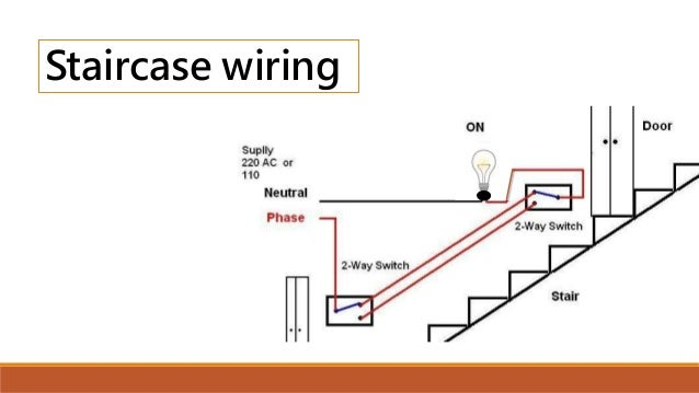 stair case wiring and tubelight wiring rh slideshare net tube light wiring with electronic choke tube light wiring pdf