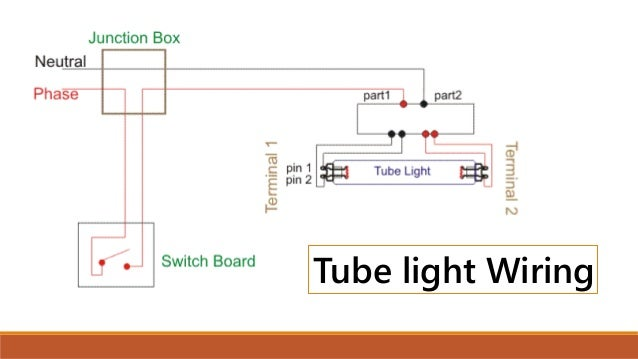 stair case wiring and tubelight wiring rh slideshare net tube light wiring with electronic ballast tube light wiring diagram