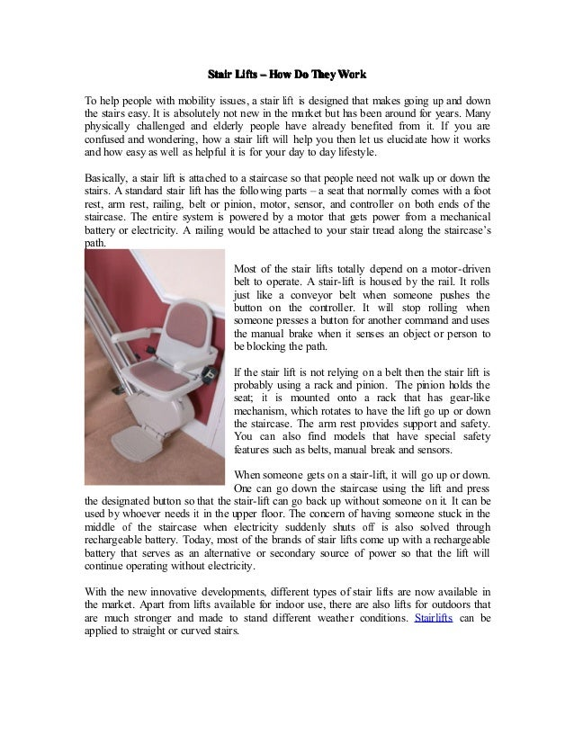 Stair Lifts U2013 How Do They WorkTo Help People With Mobility Issues, A Stair  Lift