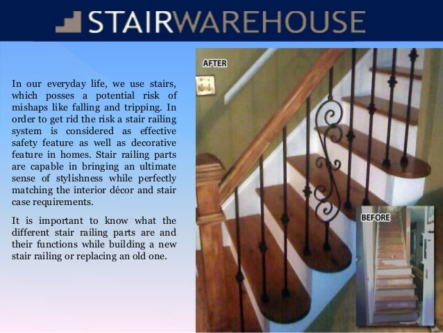 Stair Railing Parts. In Our Everyday Life, We Use Stairs, Which Posses A  Potential Risk Of Mishaps ...