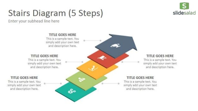 Stairs Diagrams Google Slides Presentation Template - SlideSalad