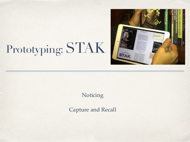 Noticing STAK - Book Wanderer Interface Prototype.! (Coded by D. Mould, 2014)