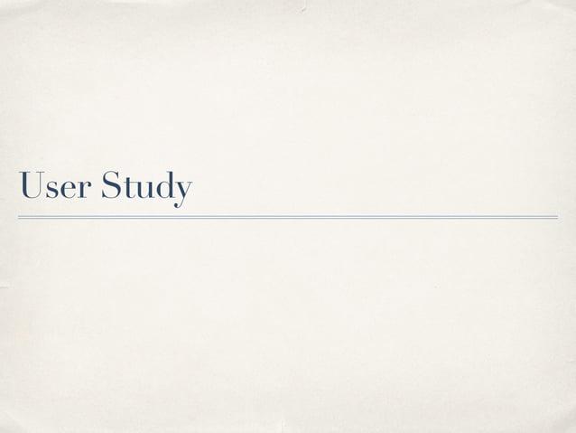User Study