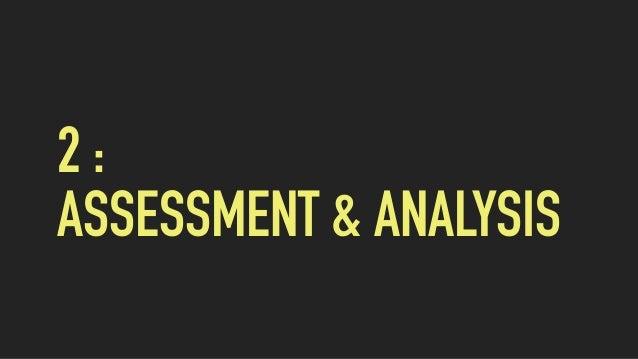 2 : ASSESSMENT & ANALYSIS