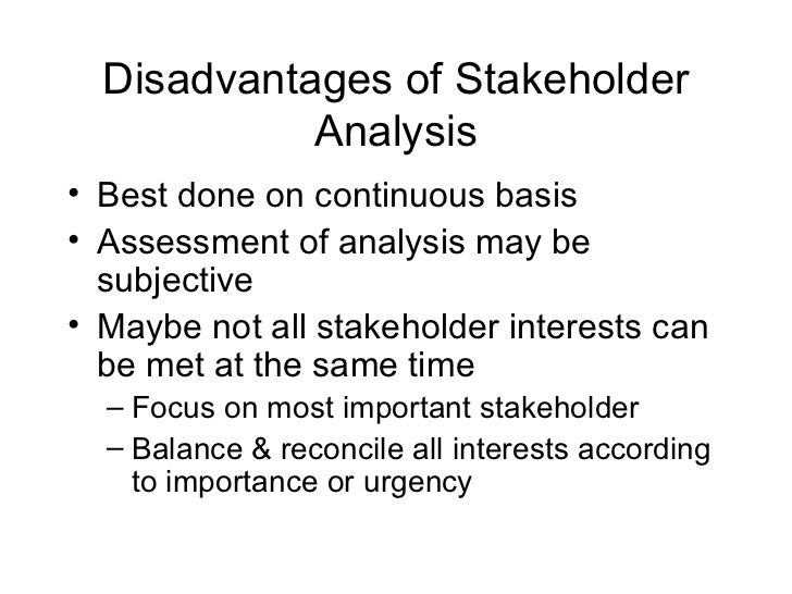 stakeholder mapping essay Performing a stakeholder analysis is the process of identifying stakeholders, and their interests connected to a project we'll give a sample stakeholder analysis.
