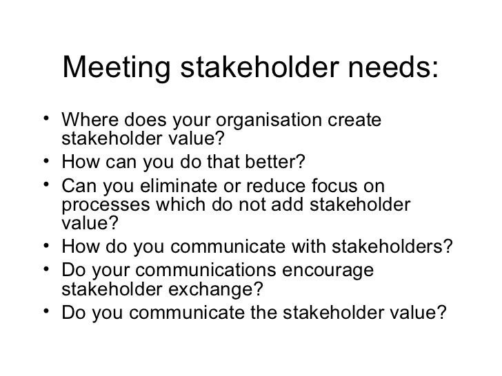 essay about stakeholders Cross-cutting tool stakeholder analysis october 2005 resources for implementing the wwf standards.