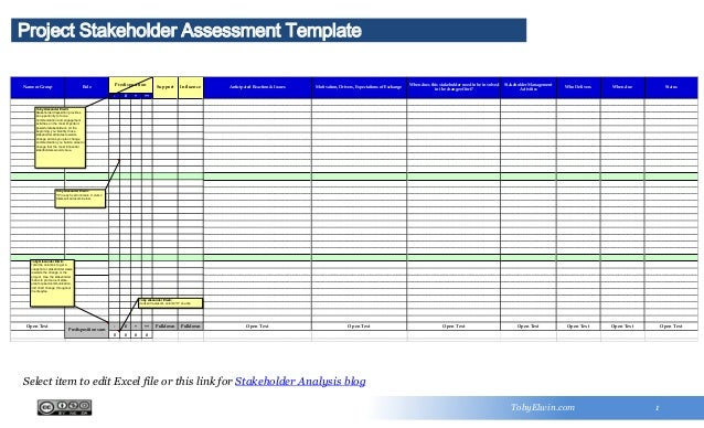 Stakeholder Analysis Template