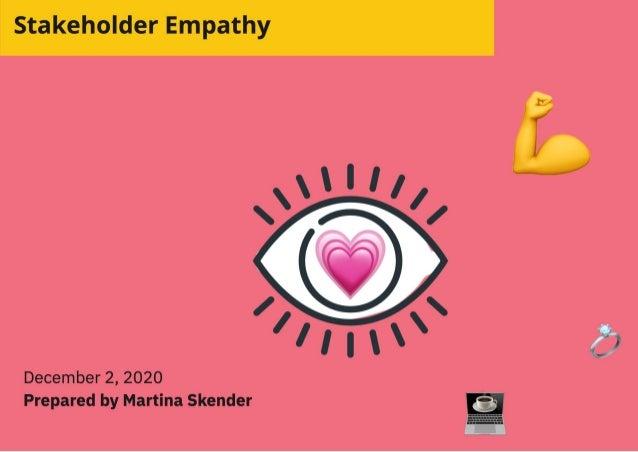 Creating strong organisations: Stakeholder empathy talk