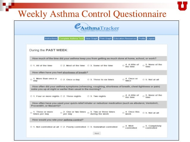 Asthma – Health care professionals