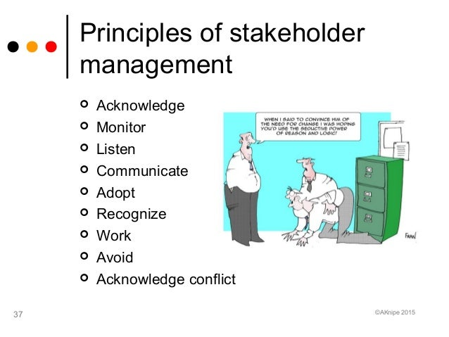 bad stakeholder management examples Effective governance, strategic alignment and stakeholder management than  examples like bart reinforced the importance of integrating the project.