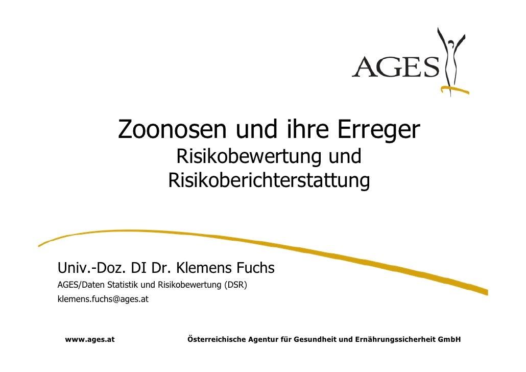 Zoonosen und ihre Erreger                           Risikobewertung und                          RisikoberichterstattungUn...