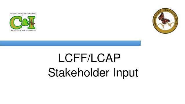 LCFF/LCAP Stakeholder Input
