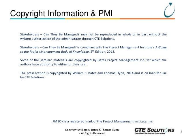 Project Management Essentials: Stakeholder Management Slide 2