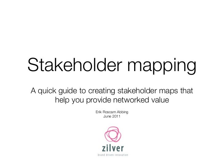 Stakeholder mappingA quick guide to creating stakeholder maps that       help you provide networked value                 ...
